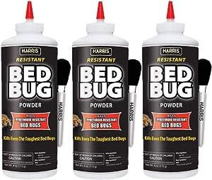 Harris Bed Bug Killer Powder, 4oz with Application Brush (3)
