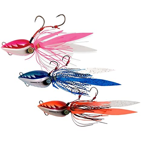 e1e75648386 Amazon.com : SHIMANO Lucanus Jigs - 80g/3 oz. - Owner Hook Size 3 or ...