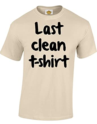 e3d80252a Last Clean T Shirt Funny Cool for Men & Teenagers T-Shirts | Amazon.com