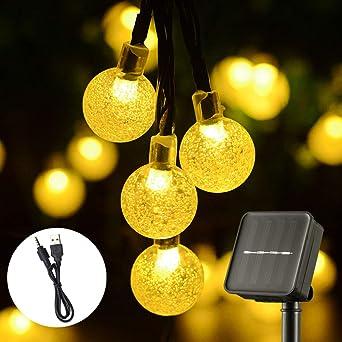 Luces de jardín solares, Luces de Hadas Decorativas a Prueba de Agua con Energía Solar y