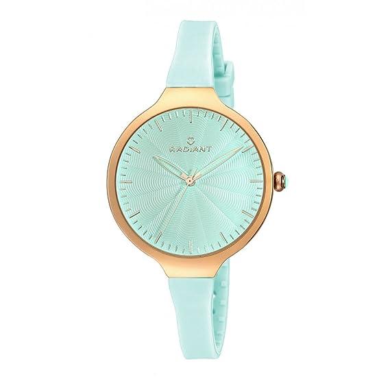 Radiant - Reloj de mujer colección SUNNY, correa de caucho azul turquesa - RA336605