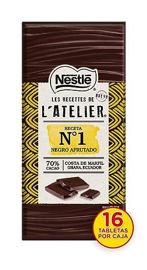 Nestlé Les Recettes de Atelier Tableta Chocolate Negro 78% Cacao - 115 gr: Amazon.es: Alimentación y bebidas