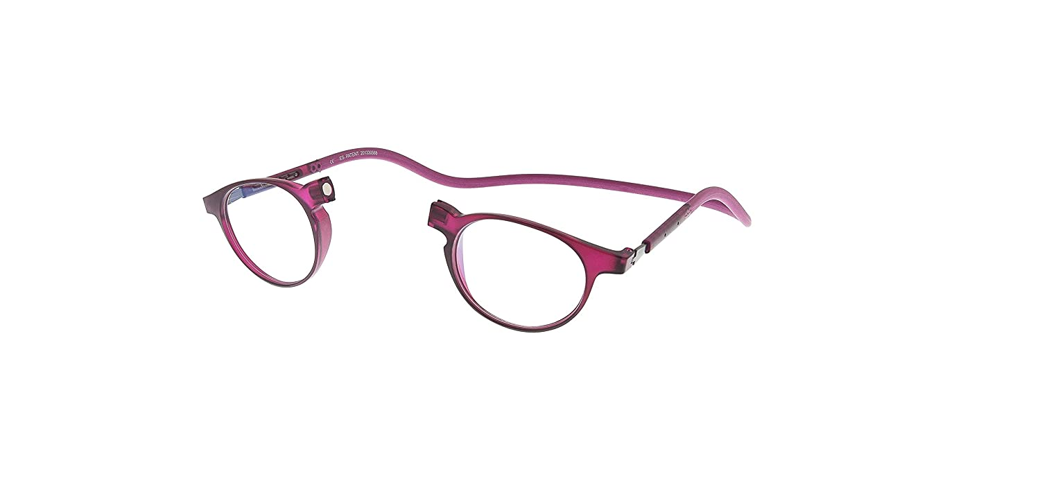 3ecc89ac4acf Amazon.com  New Slastik Magnetic Clic Style Reading Glasses Frames Soho 005  With Soft Case Power