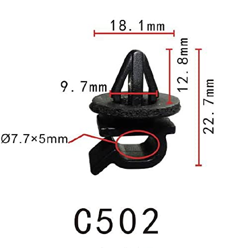 Clip del retenedor de nylon de Rod de la capilla Prod, sostiene la barra del apoyo ...
