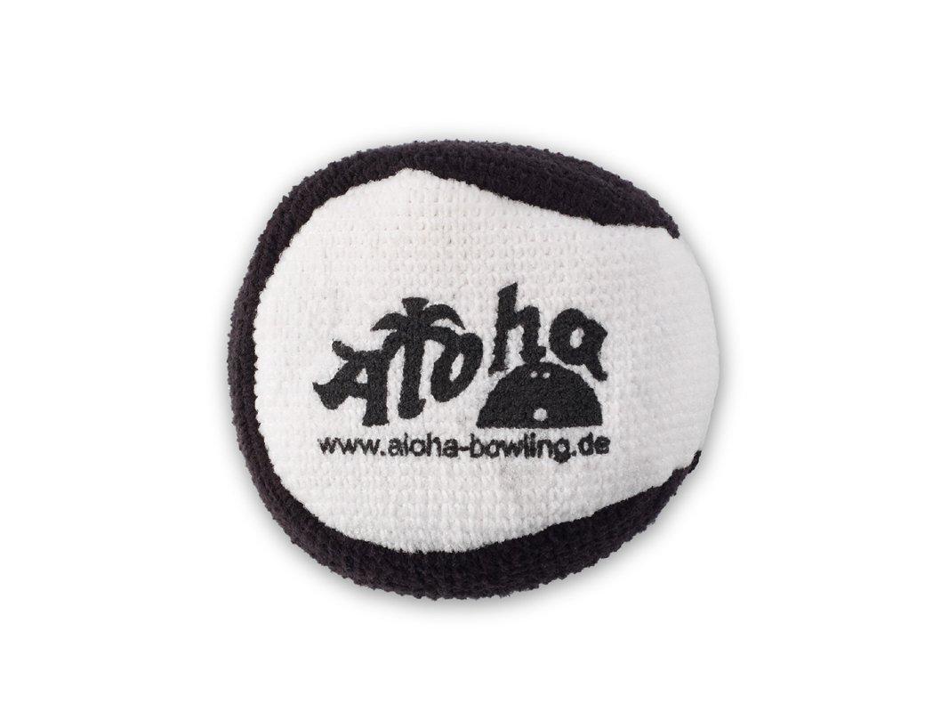 Aloha Bolos Micro Fiber Grip Ball, blanco / negro Aloha Bowling