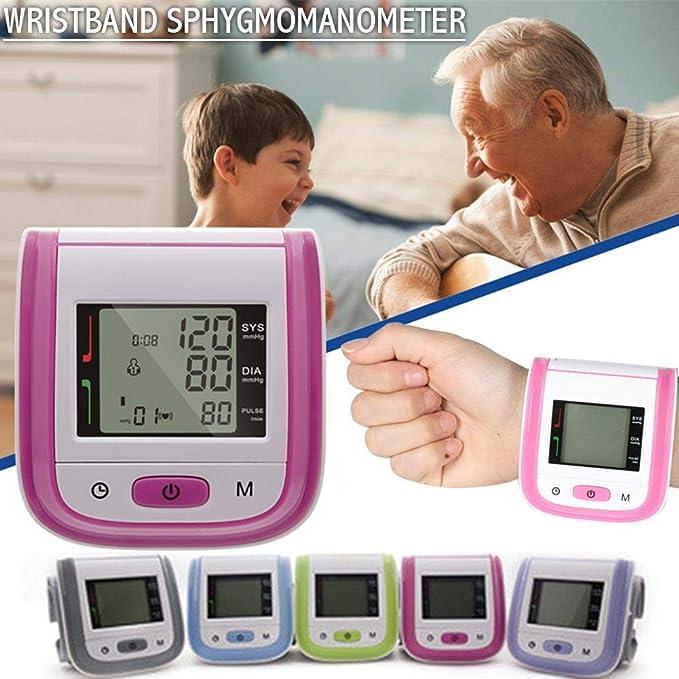 Último cuidado táctil totalmente automático de muñeca de manguito de presión arterial, monitor de atención sanitaria, tensiómetro de muñeca automático, ...