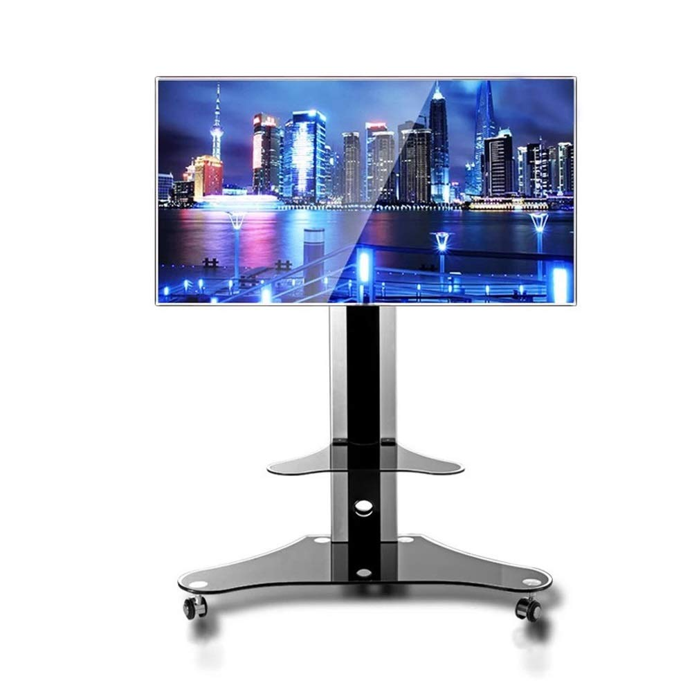 JL LCD TV Rack Floor Stand Free Punching Mobile Rack Universal Universal Display Base A+ by Monitor Stand