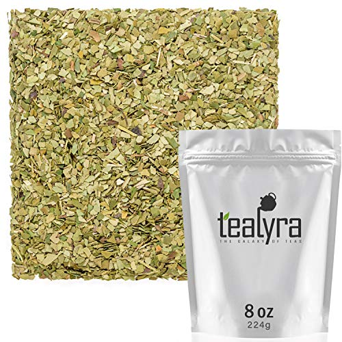 (Tealyra - Pure Green Yerba Mate Tea - 100% Loose Leaves - NO sticks - NO dust - NEVER Aged - Fresh - Unsmoked - Wild Grown - Air Dried - Healthy - Fitness - Diet - 224g (8-ounce))