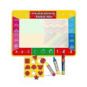 Wholethings Juguete del bebé,magia de agua(100*73 CM) con 3 plumas,colorear estera de dibujo,Niños Pintura al agua Doodle Scribble Boards-Pattern