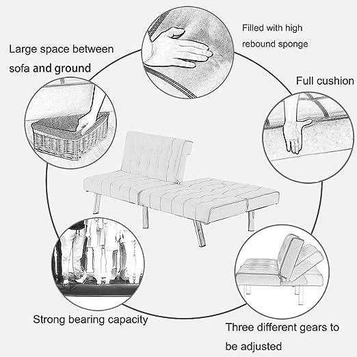 Amazon.com: Sofá cama Futón sofá sofá Futón Sleeper Sofá ...