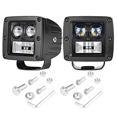 SWATOW INDUSTRIES LED Cube Lights 2PCS 80W Osram 3 Inch LED Pod Lights Off Road Spot Flood Driving Lights Fog Lights Square Work Lights for Truck ATV UTV Tractor Offroad Motorcycle Boat: Automotive