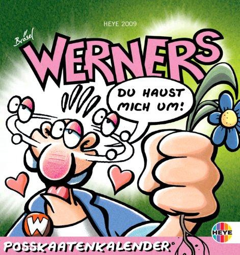 Werner Postkartenkalender 2009 Kalender – Juli 2008 Brösel Rötger Feldmann KV&H Verlag 3831843759