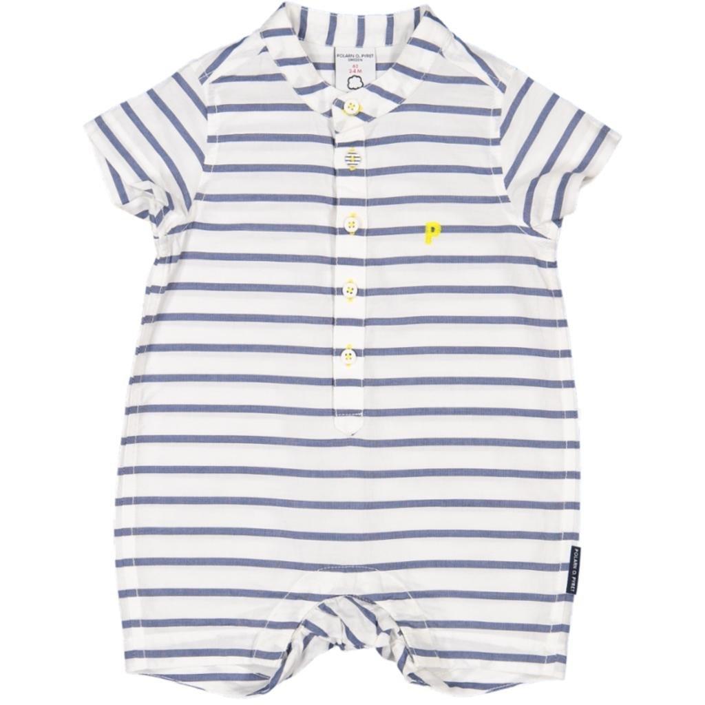 Polarn O Newborn Pyret Sailor Stripe Sunsuit