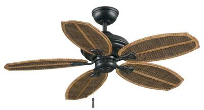 Hampton Bay Palm Beach II 48 in. Natural Iron Outdoor Ceiling Fan-59299 - The Home Depot