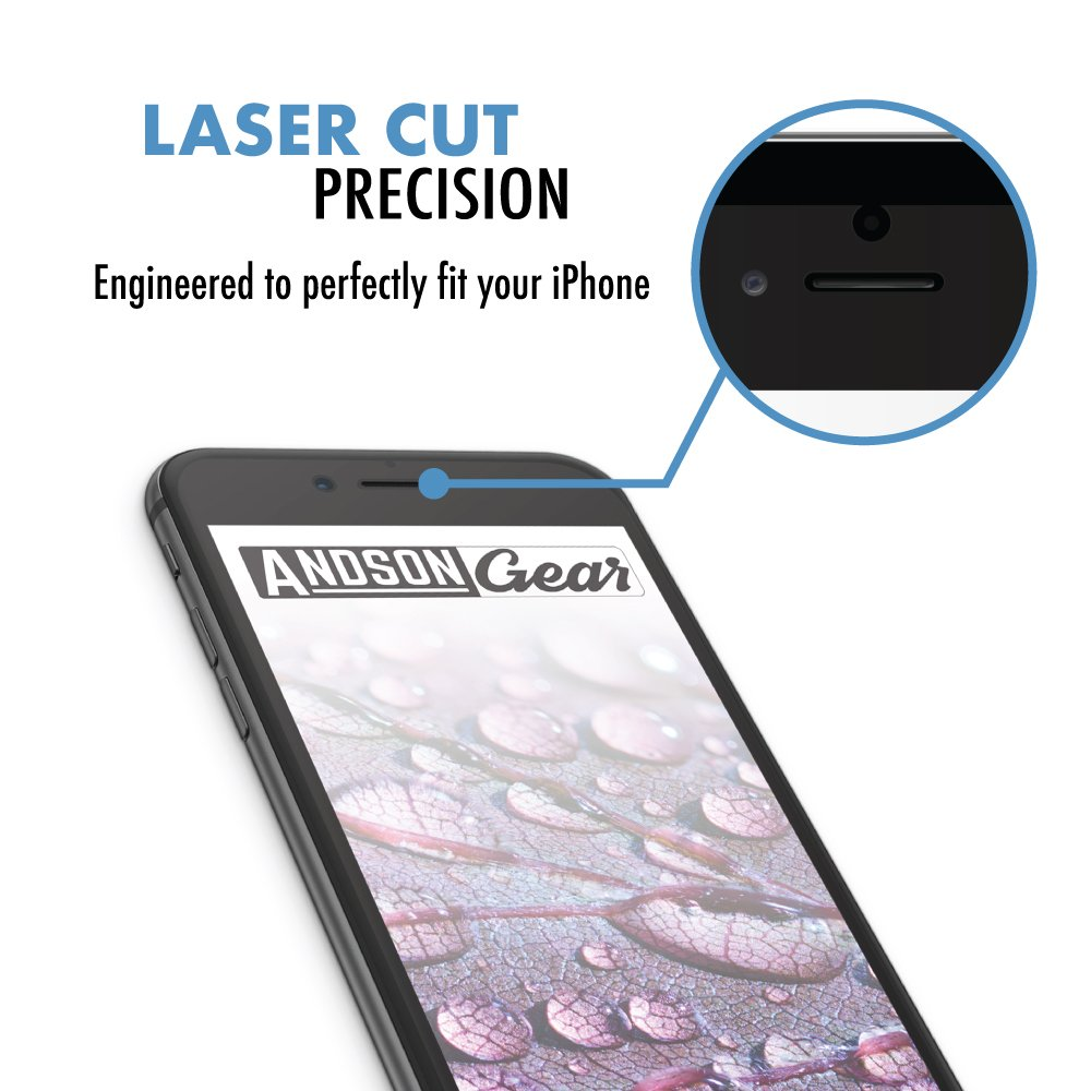 Screen Protector (2-Pack), Apple iPhone 8, 7, 6 & 6s, Tempered Glass, Professional, Ultra Slim, Crystal Clear Protection, Quantum Series by AndsonGear