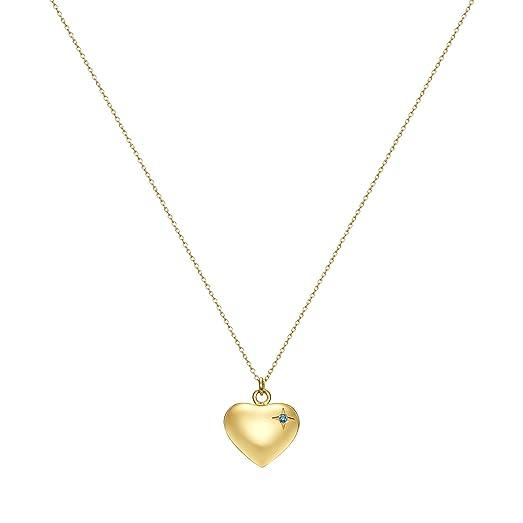 Amazon 18th birthday heart pendant necklace engraved happy 18th 18th birthday heart pendant necklace engraved happy 18th birthday gold tone with cz by taylor aloadofball Choice Image