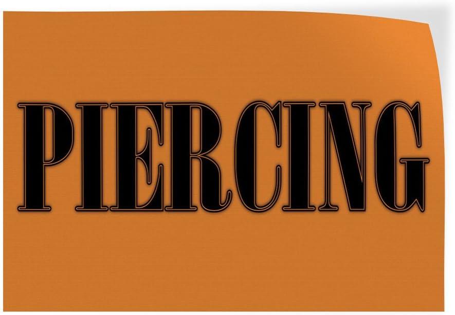 69inx46in Decal Sticker Multiple Sizes Piercings #1 Style C Beauty /& Fashion Piercings Outdoor Store Sign Orange One Sticker