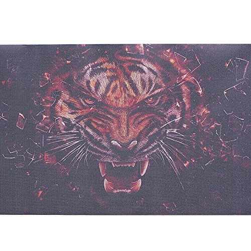 ATMOMO Terror Tigers 3D Transparent Car Back Rear Window Decal Vinyl Sticker for Happy ()