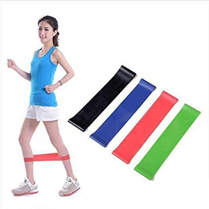 4Pcs Sport Resistance Loop Exercise Band Gym Fitness Training Power Yoga Bands