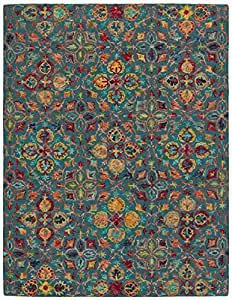 Stone & Beam Vinton Persian Area Rug, 8' x 10'6, Teal Multi