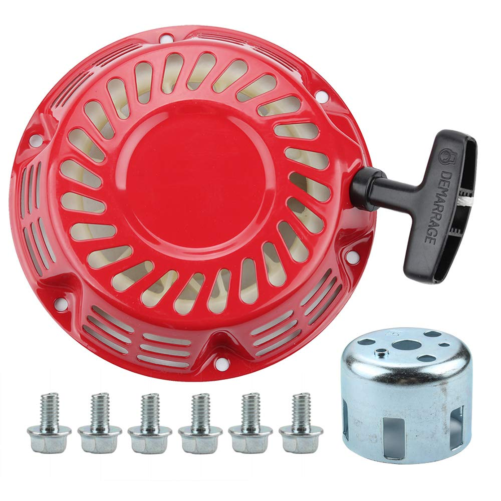 Allong Recoil Starter with Starter Cup Bolt for Honda Gx120 Gx140 Gx160 Gx200 Generator 4 5.5 6.5 HP Engine Motor Parts