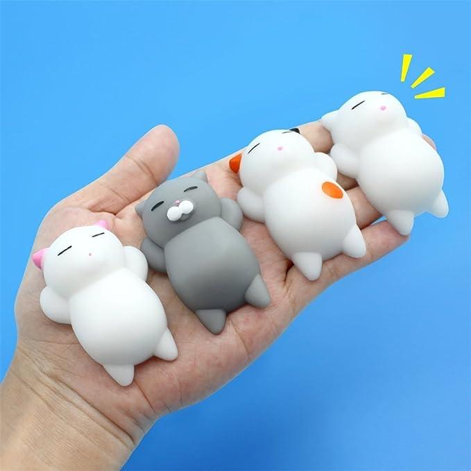 Mochi Squishy Squeeze Toy, 25 Piezas Mochi Squishy Toy Mini Kawaii Cat Squishy Mochi Squishy Mochi Squeeze Juguetes para Gatos Soft Squishy Alivio de Estrés ...