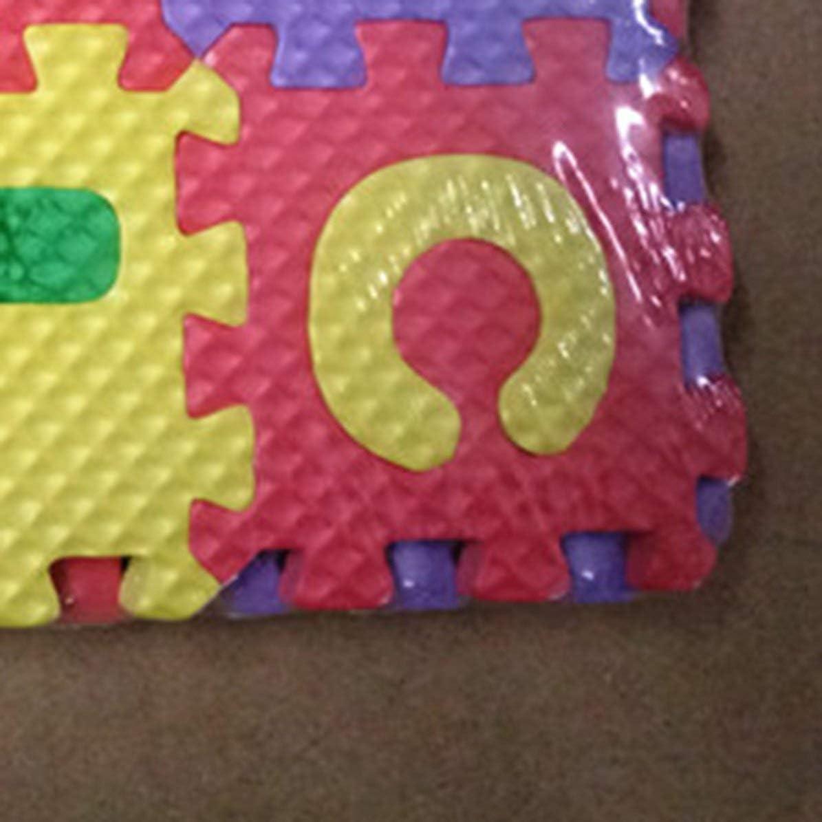 Longspeed Baby EVA Foam Puzzle Play Mat alfombras para ni/ños Alfombra entrelazada Ejercicio Piso Ni/ños Piso Rompecabezas Alfombra Azulejos-Multicolor