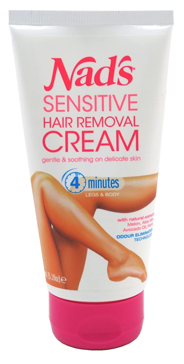 Nads Hair Removal Cream Sensitive 5.1 Ounce Tube (150ml) (2 Pack) Nad' s