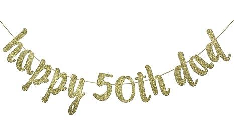 Amazon.com: JustParty Happy 50th Dad - Pancarta con ...