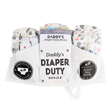7a896c0fb8b0b Amazon.com   Daddy s Diaper Duty Device - Funny New Baby Gifts for ...