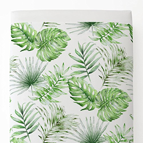 Carousel Designs Green Painted Tropical Toddler Bed Sheet Top (Antique Baby Bedding)