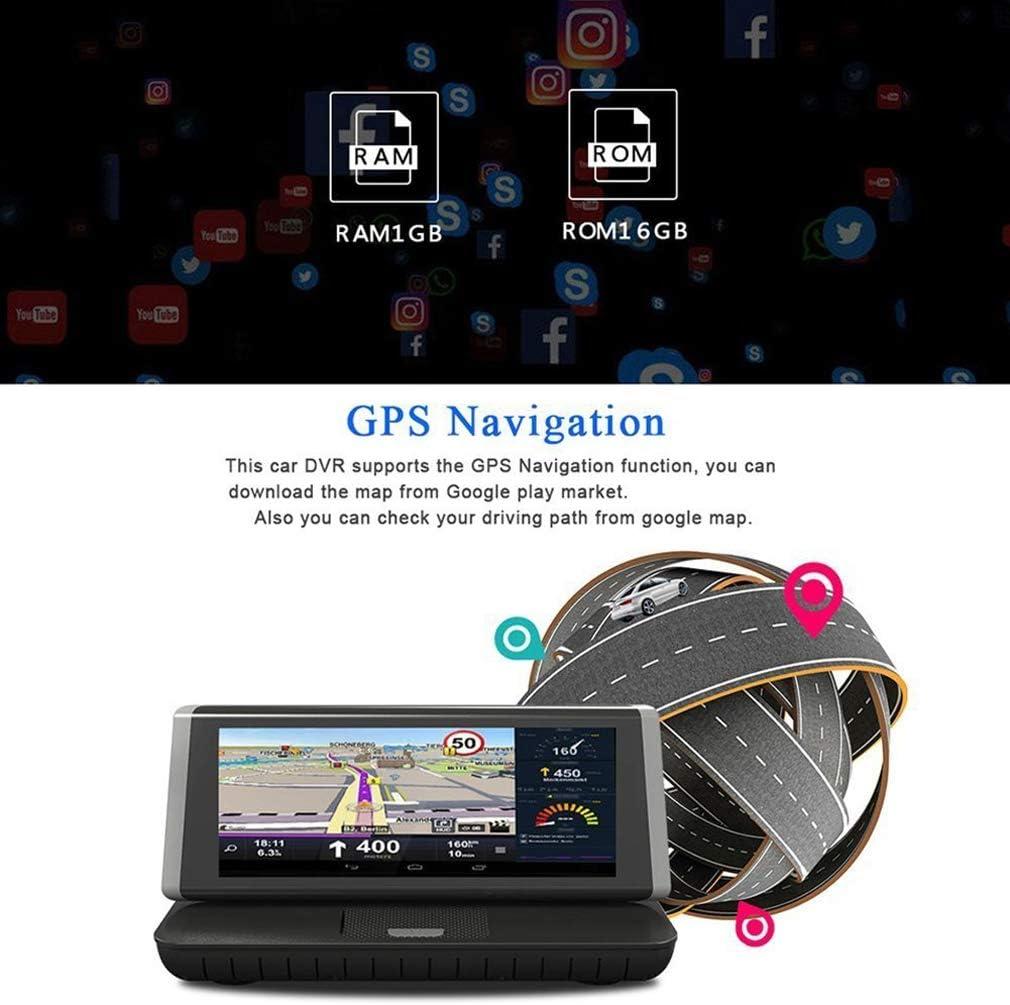 ShiZhen 8 inch Touch 4G Android Dash cam WiFi GPS Full HD 1080P Car Center Console Dashboard Video Recorder Dual Lens Registrar Dash cam ROM 16GB ADAS car dvr Camera