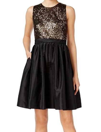 Calvin Klein Womens Sequined Pocket Sheath Dress Black 6 At Amazon