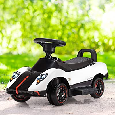 Kids Ride on Push Car, WATERJOY 3-in-1 Electric Kids Ride On Push Around Car,Battery Powered Kids Electric Vehicles,Toddler Play Toy Car, Baby Stroller for Toddler with Parental Handle, MP3, LED Light: Toys & Games