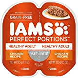 Iams Perfect Portions Grain Free Adult Wet Cat Food Paté Chicken Recipe, (24) 2.6 Oz. Twin-Pack Trays Larger Image