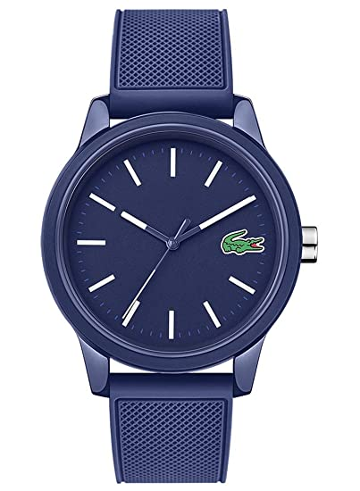 d7f9e777660 Lacoste Mens Analogue Classic Quartz Watch with Silicone Strap 2010987   Amazon.co.uk  Watches