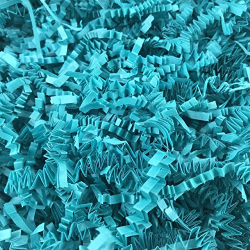 Black Cat Avenue 1 LB Teal Crinkle Cut Paper Shred Filler For Gift Wrap and Basket Filler by Black Cat Avenue