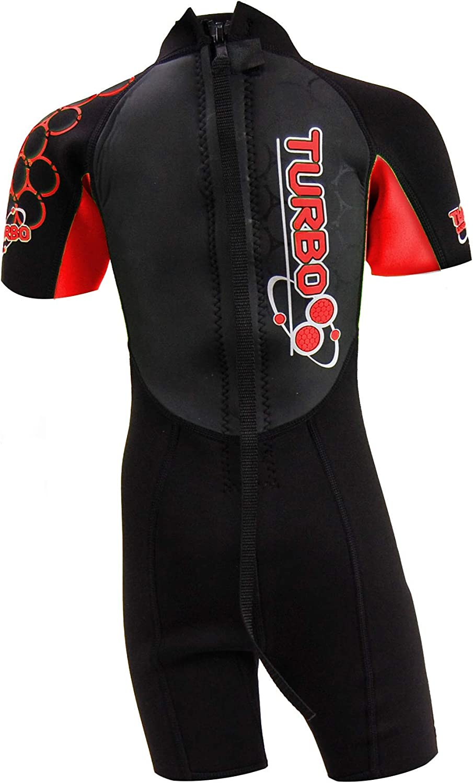TWF Kids Turbo Shortie Wetsuit Size K12 Red