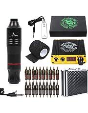 Dragonhawk Cartridge Tattoo Machine Kit Pen Rotary Tattoo Machine Cartridge Needles Power Supply for Tattoo Artists 1013-7