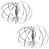 Orion Kinetic Rings: Flow Toy, Fidget Slinky, Stainless Steel Springs, 3D Sculpture – 2-for-1 Special Pricing with Bonus Draw