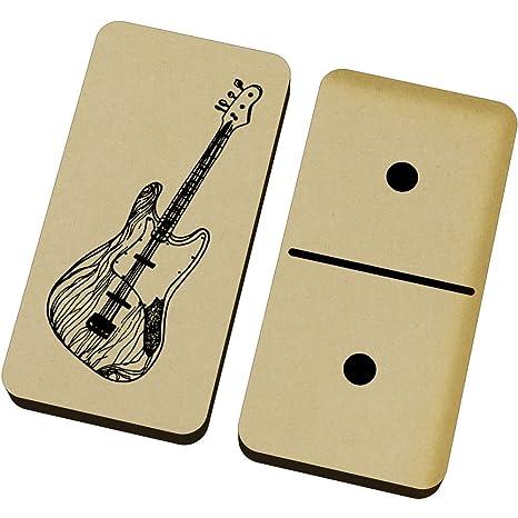 Azeeda Guitarra Eléctrica Domino Juego y Caja (DM00013314): Amazon ...
