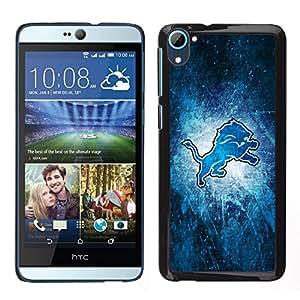 León - Metal de aluminio y de plástico duro Caja del teléfono - Negro - HTC Desire D826