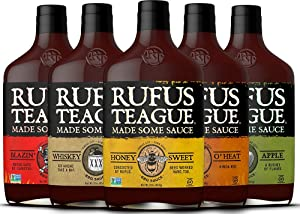 Rufus Teague: BBQ Sauce - 16oz Bottles - Premium BBQ Sauce - Natural Ingredients - Award Winning Flavors - Thick & Rich Sauce - Gluten-Free, Kosher, Non-GMO (Variety Pack)