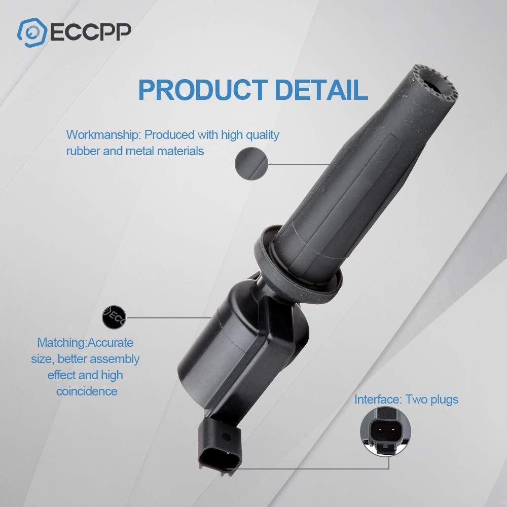 ECCPP New Ignition Coil for 2005 2006 2007 2008 Ford Escape Mazda Tribute Mercury Mariner 2.3L L4 Dg507 Dg541 C1453 FD505