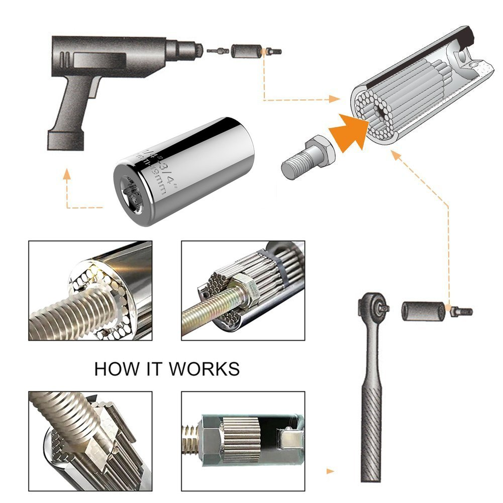 105 Degree Right Angle Extension Power Screwdriver Drill Attachment,90/° Drill Bit Adapter,Square Hole Drill Bit with 1//4 inch Drive 6mm Hex Quick Change Magnetic Drill Bit Angled Bit Power Drill Tool Regatic