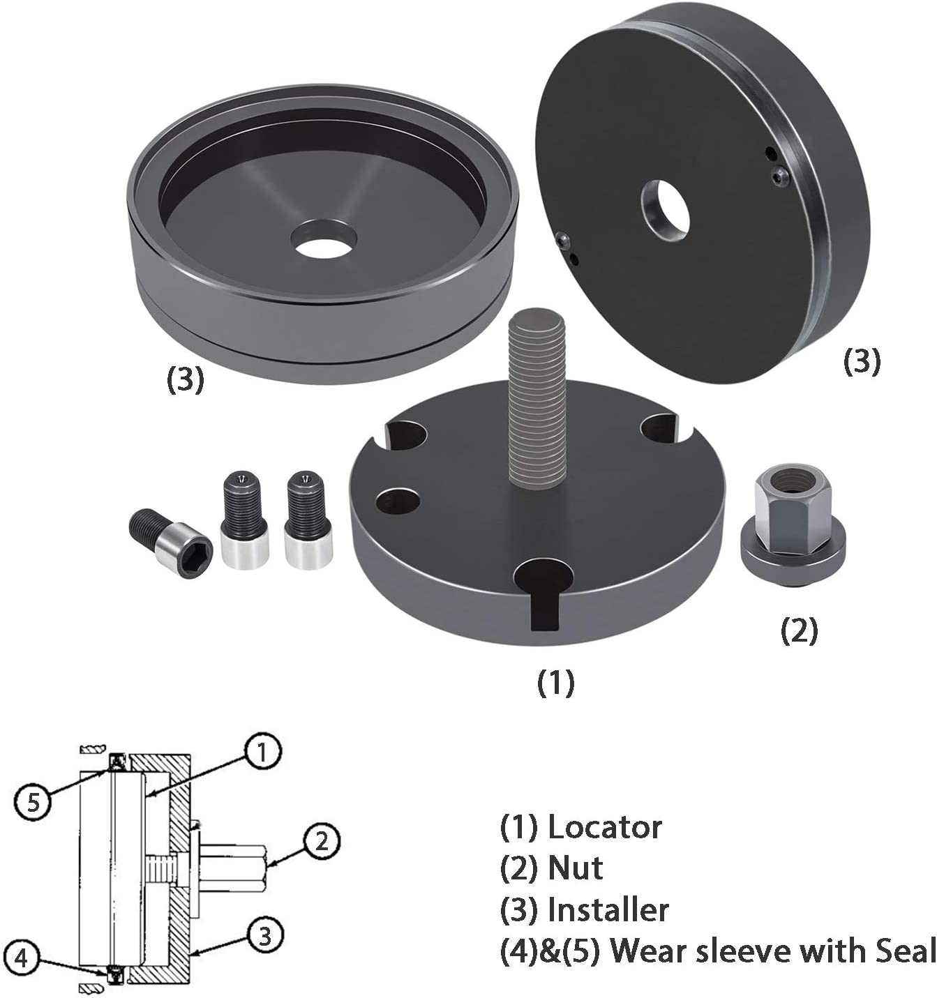 Front /& Rear Crankshaft Seal Wear Sleeve Installer For Caterpillar CAT C15 3406-3408