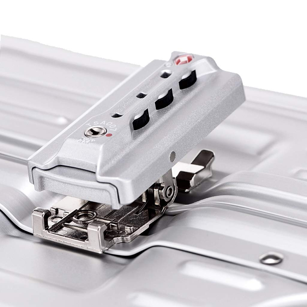 OTLLE Caster de Aluminio-magnesio de la Carretilla de la aleación Marco de Aluminio Maleta de la Carretilla del Metal Casete del embarque (Color : La Plata, ...