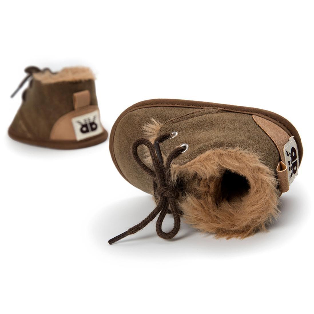 Fabal Baby Girl Boys Frenulum Cotton-padded Shoes Sneaker Anti-slip Shoes