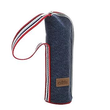 f539fc02445c Amazon.com: Baling Denim Blue Washable Cylinder Cooler Bag Insulated ...