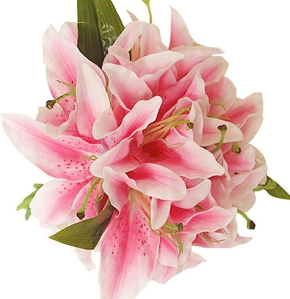 Amazon Com Alcyoneus 1 Bunch Artificial Lily Blossoms Faux